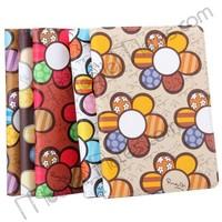 Novelty Sunflower Pattern Folio Stand PC+PU Leather Case for iPad Mini / iPad Mini 2 Retina / iPad Mini 3