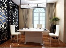 White elegant modern table for dinning room