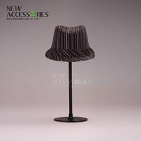 Man black striped felt fedora hat wholesale