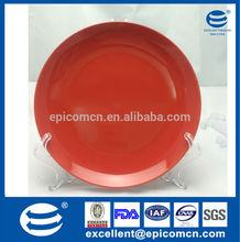 durable red enamel porcelain fruit plate