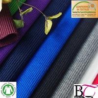 dri fit 100% polyester 1x1|2x2|3x3|2x1 rib knited fabric for collar and cuff trim
