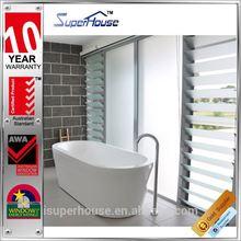 AS2047 light control aluminium glass blade louver windows for bathroom