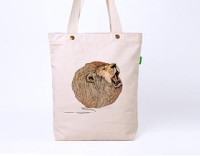 2015 Hot sale high quality cotton bag/printed canvas cotton bag/Cotton Reusable Shopping Tote