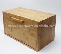 14inch Bamboo wood square bread storage bin