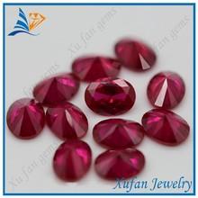 fashion oval cut red ruby semi precious gemstone