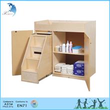 Montessori nursery equipment changing table with sliding doors