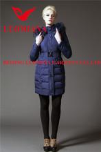 Hot sale elegant wholesale ladies' long down coat details