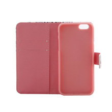 for Premium genuine leather card holder iphone 6 cover
