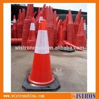 PE Plastic Traffic Safety Cone Black