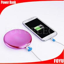 2015 Best gift delicate design pocket mirror powerbank for smart phone mini power bank