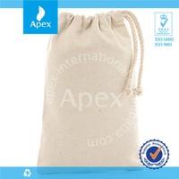 cotton linen drawstring storage bag