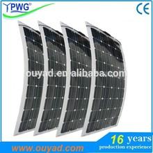 Mono portable flexible solar panel 20W~160W with sunpower for boat/caravan/yacht use