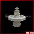 White Lion Head Small Decorative Water Fountain