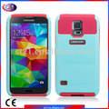 Mais recente chegada do telefone celular acessórios para samsung galaxy s5 2 tom híbrido red+lime purple+navy pink+lime azul