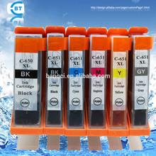 Compatible pgi650 cli651 ink cartridge for canon PIXMA MG5460/MG5560/MG6360 printer