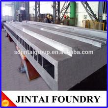 nodular cast iron/ductile iron CNC machine bed vertical cast worktable