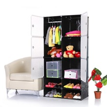 2015 fashinable datachable large wardrobe armoire with clothing hangers (FH-AL01025-6)