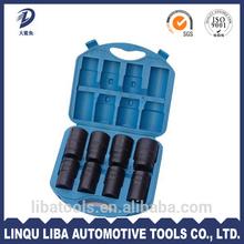 Quality Drop Forged High Hardness 10pcs 1 Inch Drive Socket Set/ Tyre Socket Kit