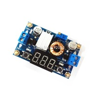 5A High power 75W DC-DC adjustable step-down module Buck Voltage Converter with voltmeter super LM2596 With calibration, pillar