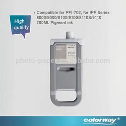 High quality Compatible PFI-702 canon printer cartridges for canon iPF8100/8110/9100/9110 printer