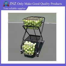 Rolling tennis ball teaching wire basket