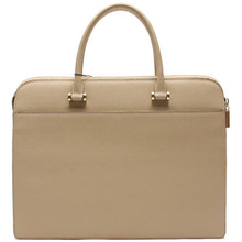 High end bright color leather most thin laptop bag for women