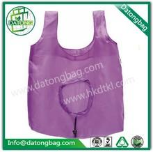 T-shirt pouch nylon mesh shopping bag/foldable nylon bag with drawstring
