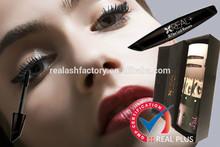 Make 3 times longer your eye lashes adding black 3d fiber lashes mascara private label EYELASH MASCARA