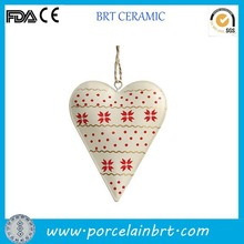 Valentines gift heart shaped design Ceramic Hanging Decoration