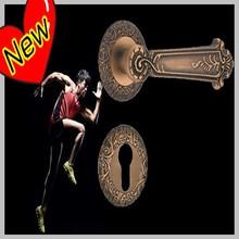 High quality high end carved safe hotel door split lock handle 5913-Z420