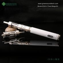 Shenzhen supplier newest ego vaporizer pen 2015 3.7v lipo e-cigarette battery from GS EGO II TWIST MEGA 2200mah