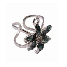 fashionable 3d zinc alloy shiny nickel plating enamel flower rings