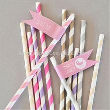 custom and cute green bamboo paper straw