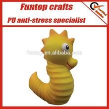 PU squeeze foam premiums seahorse stress ball toys