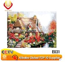 2015 cottage rural landscape oil painting E031