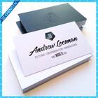 Letterpress embossed color edge paper business card printing