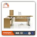 ( mfc) dt- 06 más reciente de la oficina de diseños de mesa de acero inoxidable fram mdf escritorio de oficina