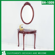 Decorative Wooden Console Table With Mirror