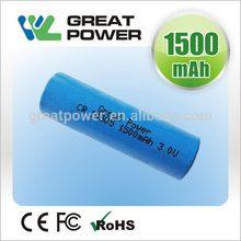 Designer useful lithium 18650 3.6v 2250mah battery cell