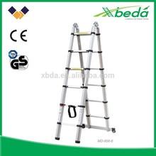 popular 8 step vertical portable extension telescopic ladders aluminum folding scaffold aldi(MD-856)
