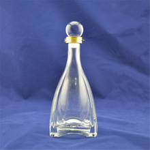 Premium factory wholesale empty clear antique looking glass bottle