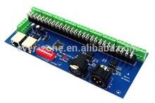 27 Road LED DMX512 controller, 27-channel DMX decoder board, LED 9 group DMX RGB output