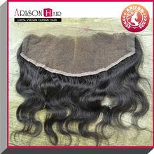 5A hot 100% virgin brazilian human 3 part silk base lace closure