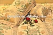 Modern fashion bed linen set bed sheet luxury silk bedding set