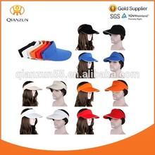 OEM/ODM blank custom sun visor cap/wholesale sun visor cap