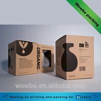 high quality kraft cardboard ceramics packing box with window