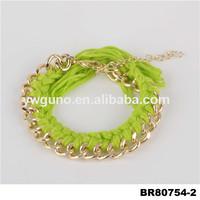 Handmade jewelry custom rope bracelet metal bracelet