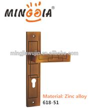 2015 hot sale morden style zinc alloy antique plate pull door handle