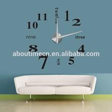 3D DIY home decoration Flying Wall Clock/metal clock hand/wall stickers clock