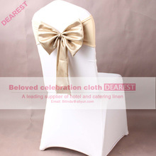 (No need to Tie the Knot) wholesale OEM cheapest satin chair sashes for weddings / banquet / party